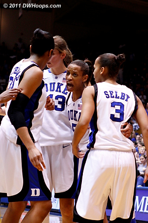 The intensity of Jasmine Thomas on her Senior Night  - Duke Tags: #5 Jasmine Thomas