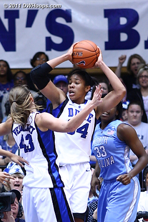 Krystal Thomas had three steals including this one  - Duke Tags: #34 Krystal Thomas