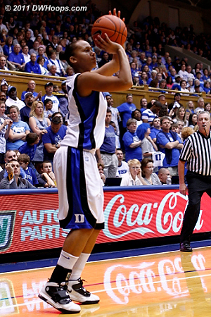 Shay hit this long jumper for a 40-38 lead  - Duke Tags: #3 Shay Selby