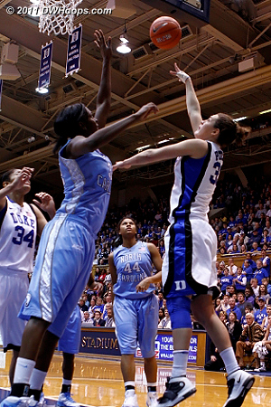 After the perfect pass from Selby, Peters made a nifty (and unblockable) reverse layup  - Duke Tags: #33 Haley Peters