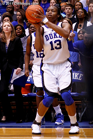 Karima's trey put Duke up 11, and forced another UNC timeout  - Duke Tags: #13 Karima Christmas