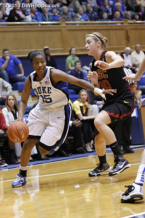 Richa Jackson drives past Christina Marinacci.  - Duke Tags: #15 Richa Jackson