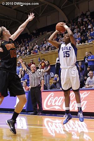 Richa Jackson drains a three pointer.