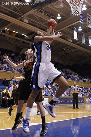 K.Thomas fouled from behind by Marinacci.  - Duke Tags: #34 Krystal Thomas