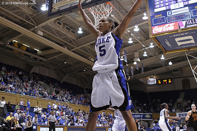 Immediately back on D after the made basket  - Duke Tags: #5 Jasmine Thomas