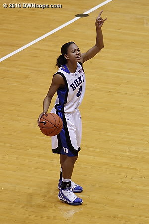 Chloe Wells directing the Duke offense.  - Duke Tags: #4 Chloe Wells