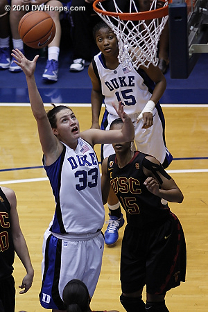 Haley Peters finished with seven points and thirteen rebounds.  - Duke Tags: #33 Haley Peters