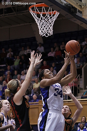 Krystal Thomas had a solid second half.  - Duke Tags: #34 Krystal Thomas