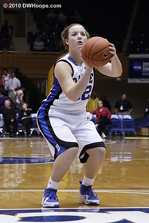 Tricia Liston scored her first career point from the free throw line.  - Duke Tags: #32 Tricia Liston