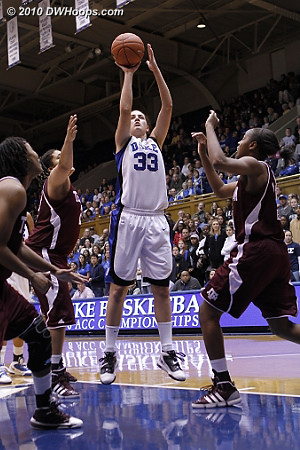 Haley Peters hit a short jumper that (for the time being) kept A&M from going up by double digits  - Duke Tags: #33 Haley Peters