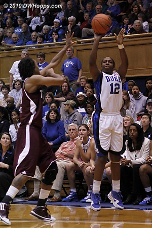 Chelsea Gray nailed a three pointer to put Duke up by six.