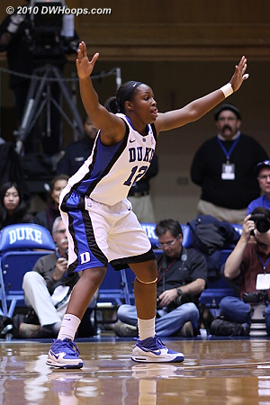 The defensive stance of Chelsea Gray  - Duke Tags: #12 Chelsea Gray