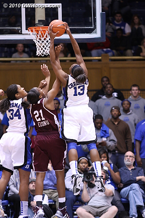 Another defensive board for Christmas whose 11 rebounds matched her 11 points.  - Duke Tags: #13 Karima Christmas