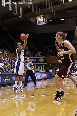 Shay Selby hits a clutch three on a kickout from Chelsea Gray to close the score to 45-44 A&M.  - Duke Tags: #3 Shay Selby