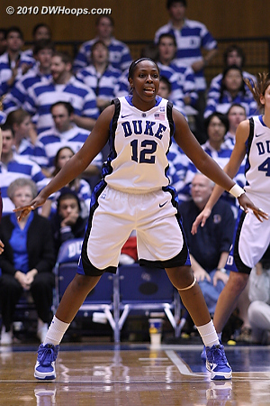 Chelsea Gray on defense.  - Duke Tags: #12 Chelsea Gray
