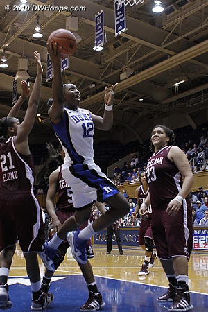 Chelsea Gray was fouled on the way to the hoop.  - Duke Tags: #12 Chelsea Gray