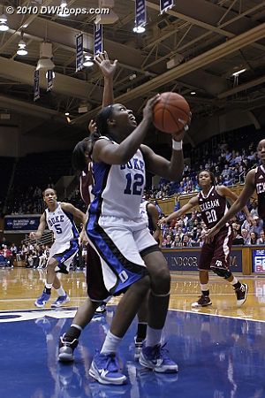 Chelsea Gray scores in the paint.  - Duke Tags: #12 Chelsea Gray