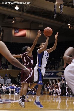 Jasmine Thomas puts up a shot that would give Duke the lead with under a minute left.  - Duke Tags: #5 Jasmine Thomas