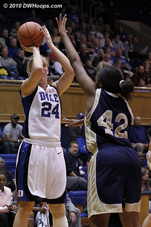 Scheer gets a great look  - Duke Tags: #24 Kathleen Scheer