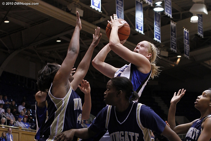 Scheer soars over all  - Duke Tags: #24 Kathleen Scheer