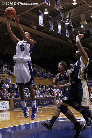 Jasmine scores again during Duke's run to end the first half.  - Duke Tags: #5 Jasmine Thomas