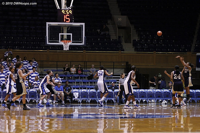 Duke's half-court defense got a little lax once it was a blowout, though they did expend a lot of energy on various presses and traps.