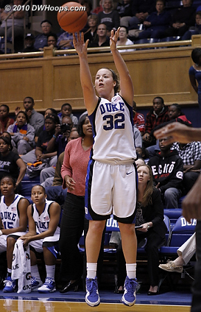 Liston fires from the corner  - Duke Tags: #32 Tricia Liston