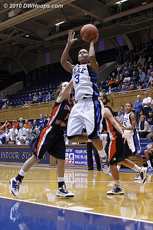 Shay hits a floater  - Duke Tags: #3 Shay Selby