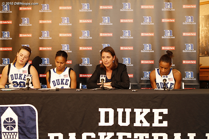 Liston, Wells, Coach P, and J.Thomas joined us in the media room.  - Duke Tags: #4 Chloe Wells, #5 Jasmine Thomas, #32 Tricia Liston, Joanne P. McCallie