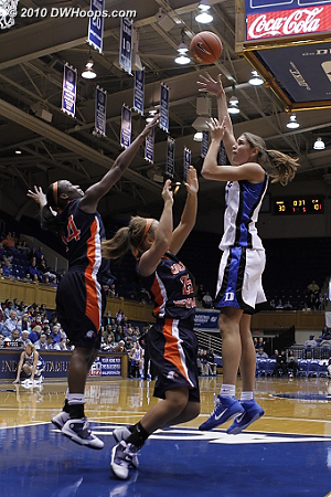 Allison scores in the paint  - Duke Tags: #43 Allison Vernerey