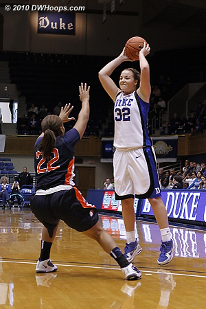 Liston sharing the ball on a day when Duke dished out 30 assists.  - Duke Tags: #32 Tricia Liston