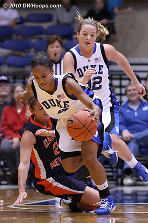 One of Wells' seven first half steals  - Duke Tags: #4 Chloe Wells, #32 Tricia Liston