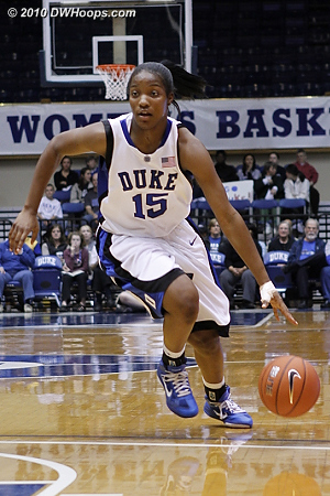 Richa Jackson drives to the lane  - Duke Tags: #15 Richa Jackson