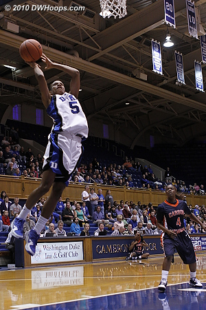 The ally-oop pass was just too high  - Duke Tags: #5 Jasmine Thomas