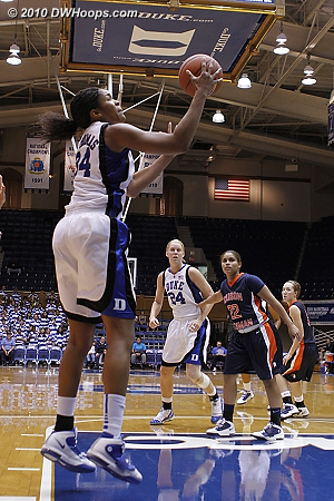 A great look for Krystal  - Duke Tags: #34 Krystal Thomas