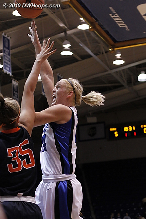 Intensity in the paint  - Duke Tags: #24 Kathleen Scheer