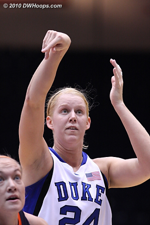Kathleen Scheer pleased by making two free throws  - Duke Tags: #24 Kathleen Scheer