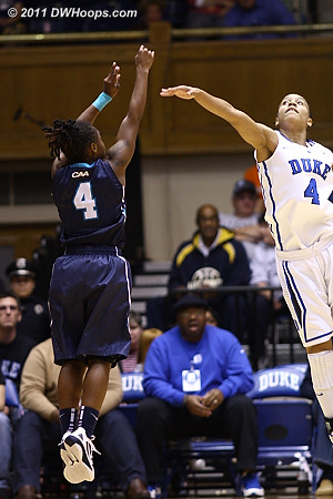 Duke's perimeter defense continued to be a concern as the only real bright spot for the Seahawks was their 6-12 three point shooting.  - Duke Tags: #4 Chloe Wells