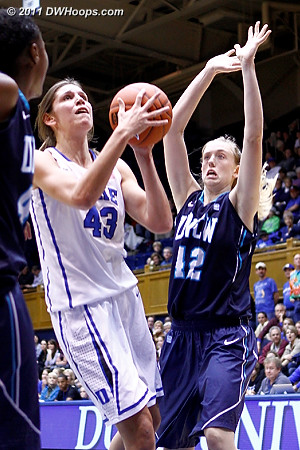 Allison Vernerey powers around Chelsea Mcgowen (42)