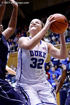 Tricia Liston eyes the basket on her 18 point night  - Duke Tags: #32 Tricia Liston
