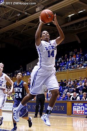 Ka'lia scores to put Duke up 98-41  - Duke Tags: #14 Ka'lia Johnson