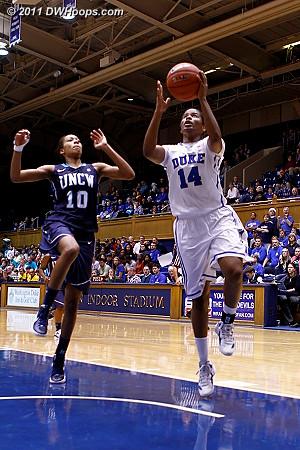 Ka'lia scores again to make it 102-43  - Duke Tags: #14 Ka'lia Johnson