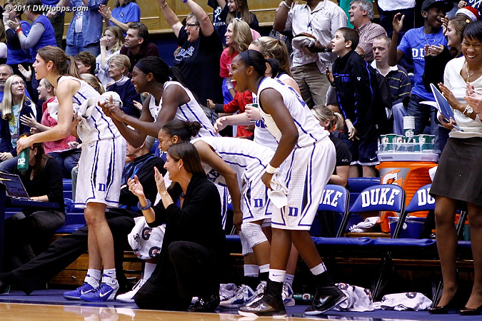 More cheering from the bench after the Frush trey (6 more bench photos for DWHoops members only)