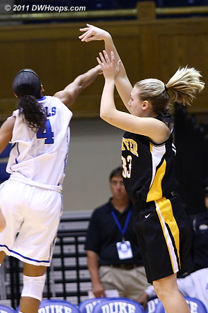 Jodie Lemons came off the bench to score nine of Pfeiffer's 16 first half points, all from behind the arc  