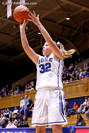 Liston made good on 4-7 shots with open mid-range looks  - Duke Tags: #32 Tricia Liston