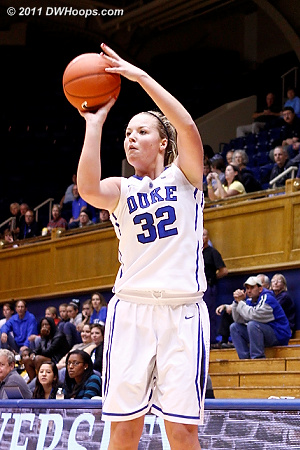 Liston for three  - Duke Tags: #32 Tricia Liston 