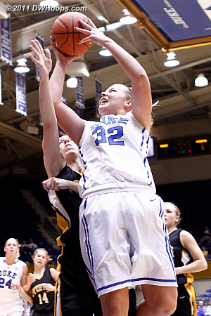 Liston fouled by Cox, basket and one  - Duke Tags: #32 Tricia Liston 