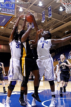 DWHoops Photo  - Duke Tags: #1 Elizabeth Williams, #30 Amber Henson