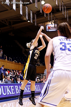 Lemons fires again, she finished with 12 of Pfeiffer's 27 points  