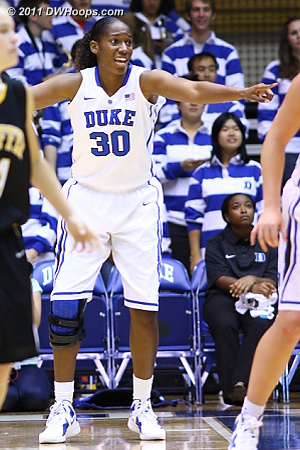 Amber Henson on D  - Duke Tags: #30 Amber Henson 